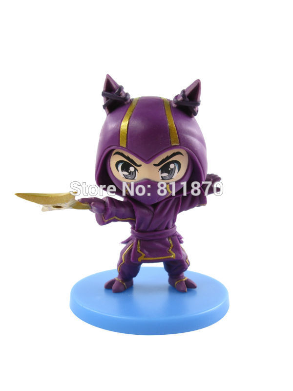 Cosplay 10cm/3.9'' Q Version LOL The Heart of the Tempest Kennen PVC Model GK Garage Kits Action Figures Toys made for lol cosplay the loose cannon jinx 24cm 9 5 middle pvc gk action figures toys garage kits standing model