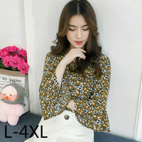 Plus Size Clothes Floral Print Blouses Women Summer Tops Xl 4xl Blusas Mujer 2018 Vintage Fashion