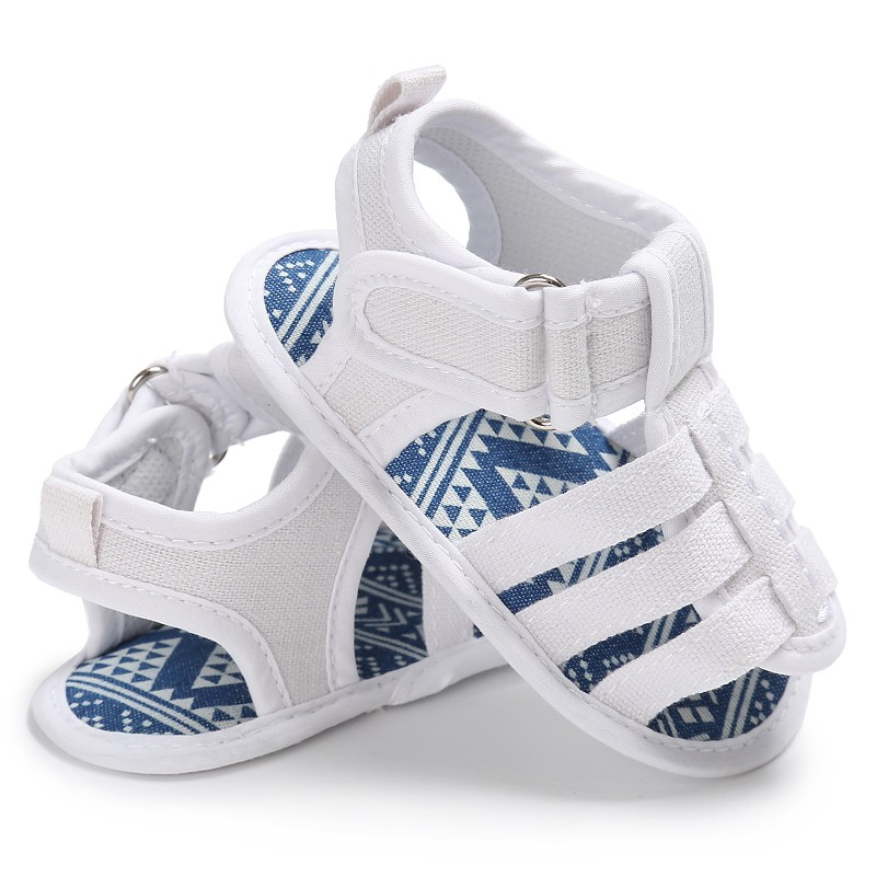 ff43fab8ad55a Été bébé garçon toile magique boucle sandales enfant en bas âge chaussures  à fond souple Prewalkers décontracté pour bébé 0 ~ 18 M 3 couleurs dans  Sandales ...