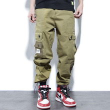 Giapponese di Modo di Stile Degli Uomini Dei Jeans Loose Fit Big Tasca Dei  Pantaloni Cargo 025e815773c8