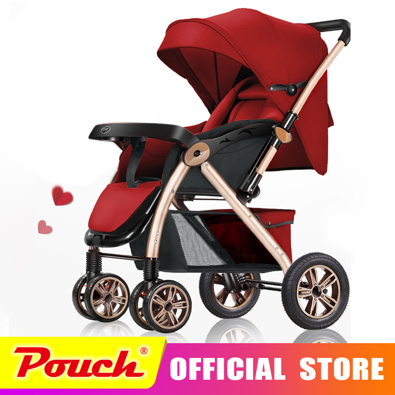 BeiBeiAi bébé poussettes ultra-léger pliage peut s'asseoir peut mentir haute paysage parapluie bébé chariot d'été et d'hiver BBA