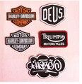 5 unids/lote DIY pegar paño bordado caballero chaleco de moto estándar de tela Harley fina goma del paño de la motocicleta parches bordados
