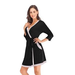 Image 2 - Халат кимоно Женский из мягкой модала, ночная рубашка юката, пижама, лето 2020