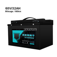 60V 32AH Electric Bike 18650 Lithium Battery For 800 1200W Motor Professional Ebike Electric Bicycle Battery Max Mileage 160km