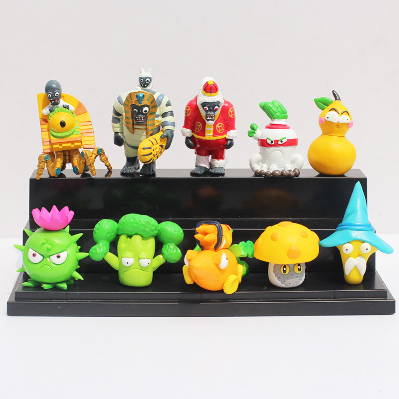10Pcs/Lot PVZ Plants vs Zombies Figures Plants and Zombies PVC Action Figures Collection Model Toys Dolls Girls Boys Baby Toys