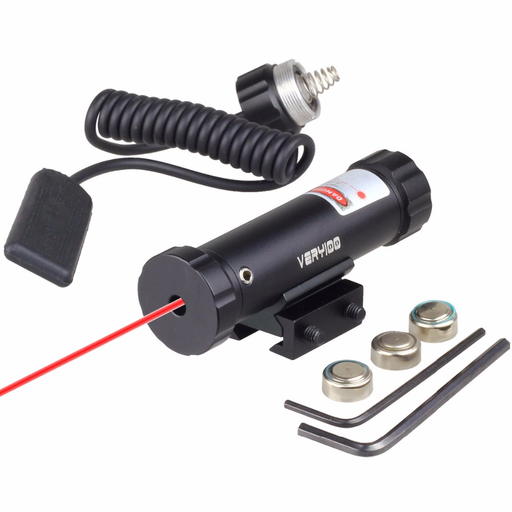 VERY100 Red Lasers Tactical Reflex Laser Scope Dot Sight With Mount & 2 Switch For Gun Rifle 11mm/20mm Rail
