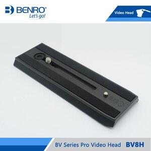 Image 2 - BENRO BV8H الفيديو ماكينة طي أوتوماتيكي هيدروليكية مفردة الرأس السوائل الفيديو رؤساء QR13 سريعة الإصدار بلايت الألومنيوم فيديو رئيس ماكس تحميل 8 كجم DHL شحن مجانا