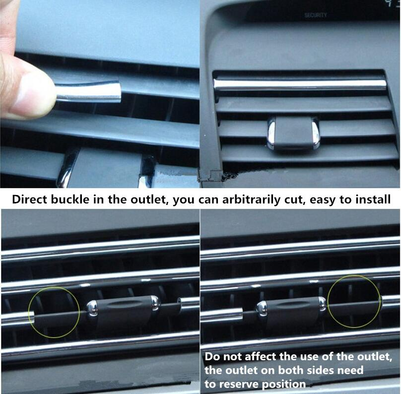 4M Car refitting accessories Car styling Outlet decorative line FOR passat b6 citroen c5 hyundai tucson <font><b>2017</b></font> bmw e92 <font><b>Audi</b></font> <font><b>A4</b></font> B6 image