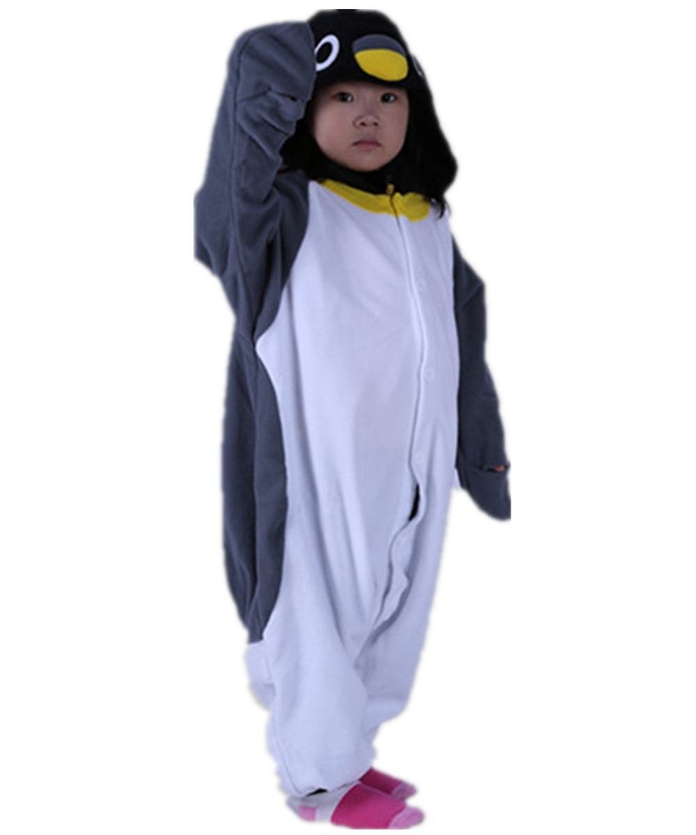 Унисекс дети ребенок серый пингвин пижамы Комбинезоны костюм зима  мультфильм пижамы Хэллоуин для рождественской вечеринки детей Косплэй пижамы  купить на ... 1ac84edbacd0a