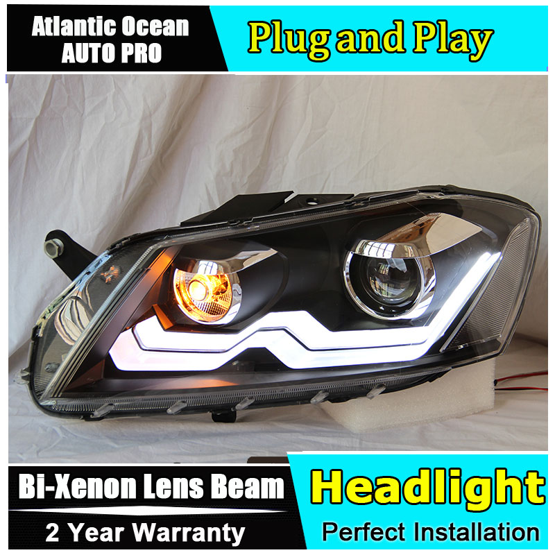 Car Styling For VW Passat B7 headlights 2011-2014 Europe Version Volks Wagen Passat headlight drl HID KIT Bi-Xenon Lens low beam набор автомобильных экранов trokot для vw passat b7 2010 2014 на передние двери tr0408 01
