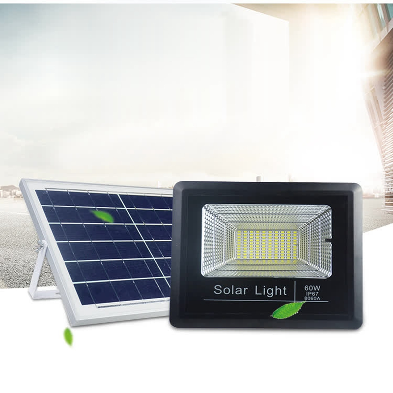 LukLoy LED Solar Light Solar Outdoor Rainproof Remote Control Sports LED Floodlights Square Playground Courtyard