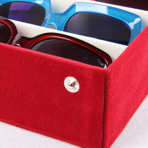 Image 5 - Moedoa estojo para óculos de sol, caixa de armazenamento para óculos de sol, 8 compartimentos, joias, 48.5x18*6cm caixa de exibição/rack