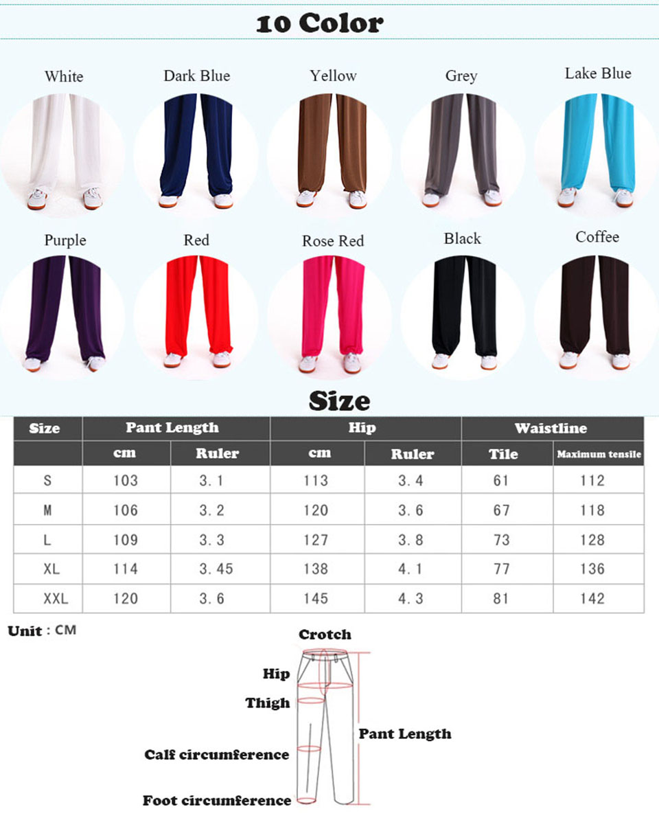 Zooboo Ice silk Martial Arts Tai Chi Yoga Pants Acrobatics Pants Kung Fu Cropped Pants Fitness Dance Running Pants Men Women
