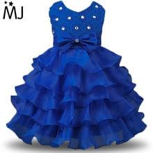 Enfants De Bal Robes Partie Des Dessins Enfants Vêtements Enfants Robes Formelles pour les Filles De Mariage Dentelle Tulle Robe De Noël pour Fille Taille 8