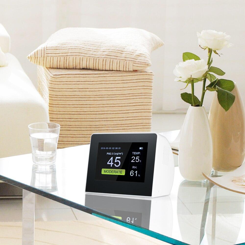 Détecteur de qualité de l'air intérieur/extérieur numérique PM2.5 moniteur de gaz de formaldéhyde LCD HCHO & covt testeur Instrument compteur analyseurs d'air