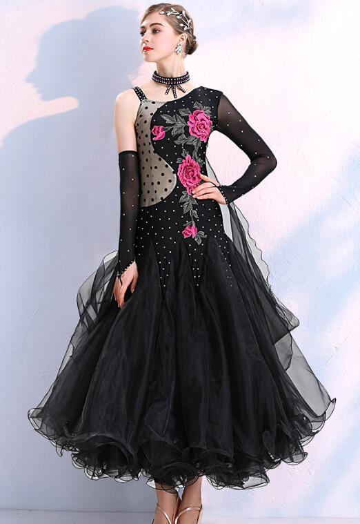 Ballroom Dance Dresses Black Standard Ballroom Dress Ballroom Women Dancing Dress Dress Ballroom Dance 296 Costumes