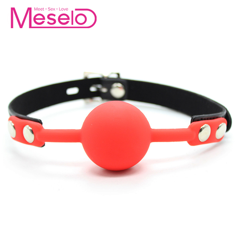 Meselo BDSM Mouth Gags Bondage Harness Gag Ball Adult Toys Sex Game Silicone Ball Mouth Plug Gag Bondage Flirting Erotic Product leather sex toys ring gag flirting open mouth with o ring during sexual bondage bdsm roleplay and adult erotic play for couples