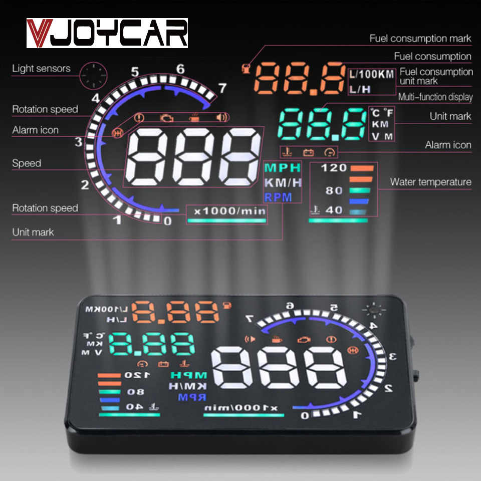 5.5in Universal HUD Head Up Display OBD II Projector Digital Light Speed Warning