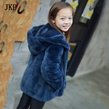 Winter Kids Real Rex Rabbit Fur Coat Baby Girls Boy Thick Warm Fur Coat Children jacket Clothing цены онлайн