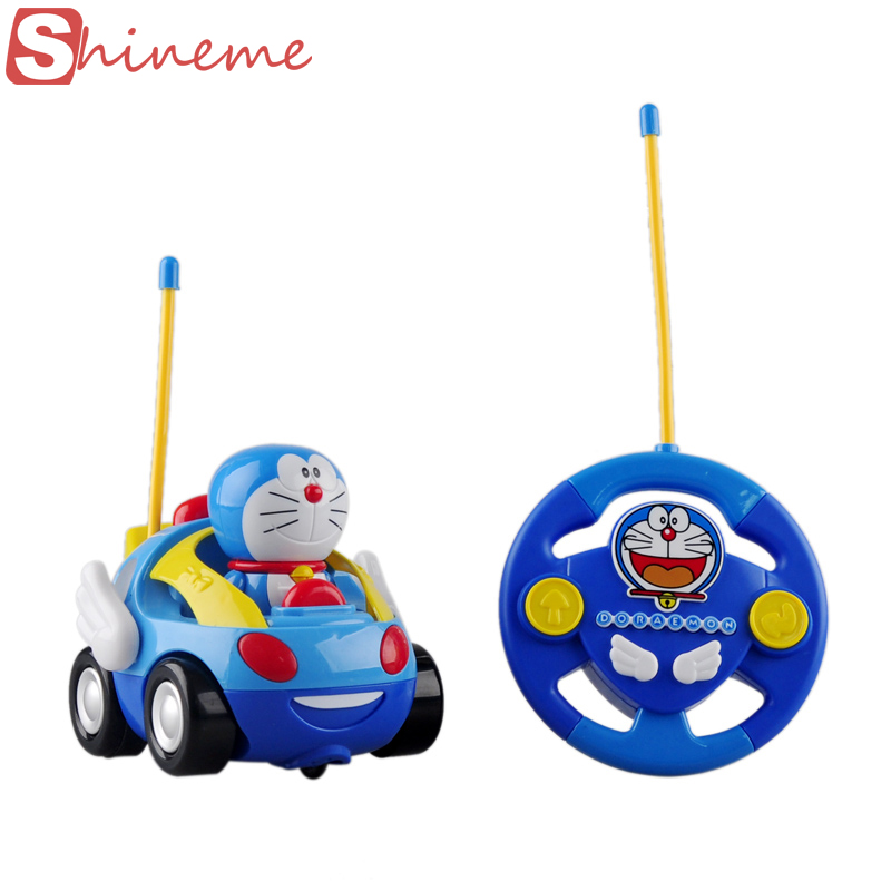 new baby boys girl doraemon remote control electric toys car kids rc car high speed cute