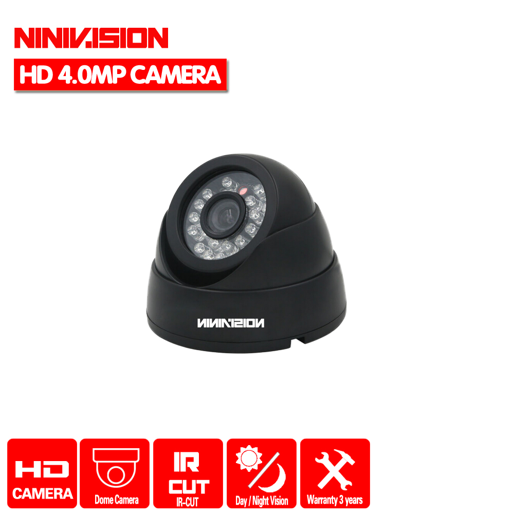 NINIVISION Indoor Outdoor Dome AHD Camera 4.0MP Security Camera CCTV 24PCS LED Board ONVIF Camera HD night vision Camera