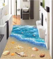 3 D PVC Flooring Waterpro 3d Bathroom Flooring Wall Paper 3 D World Ocean Floor Tile