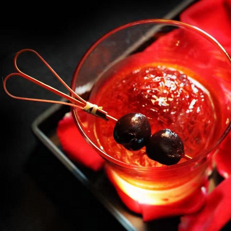 GIEMZA 100 шт Ножничные Коктейльные зубочистки мартини оливки бар декоративные палочки из натурального бамбука Фруктовые палочки ECO Garnishes Держатели