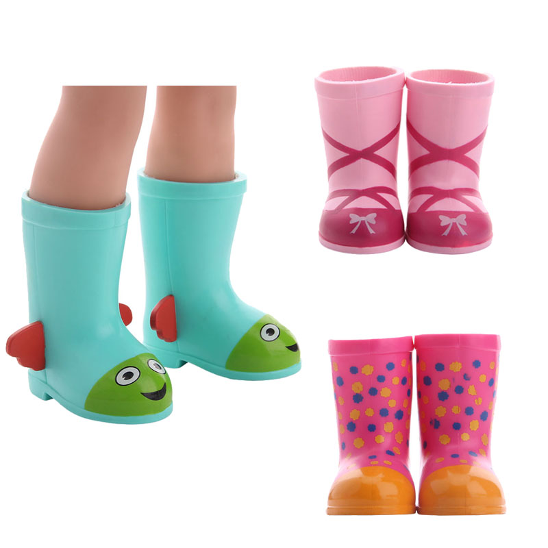 Brithday Gift Lovely Long Boots Round Head Shoes For Wellie Wisher Doll ,14.5 Inch  Doll  ,Doll Accessories