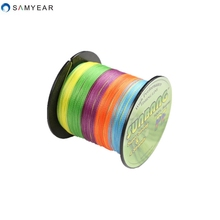 Free shipping 300M 4 strands braided fishing line 8-60LB multifilament line 100% PE line SUNBANG