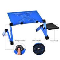 Moda portátil dobrável computador portátil mesa de ferro eua rússia china estoque sofá cama escritório portátil suporte de mesa computador portátil notebook cama