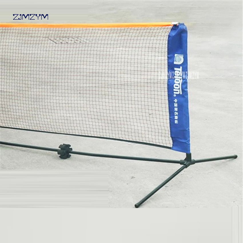 High Quality Professional Training Square Mesh Standard Badminton Net Sports Net for Outdoor Badminton Tennis Net Replacement 6M