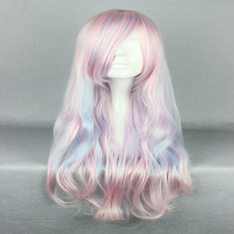 HAIRJOY Synthetic Hair Zipper 70cm Long Wavy Harajuku Lolita Cosplay Wig 18 Colors Available 92