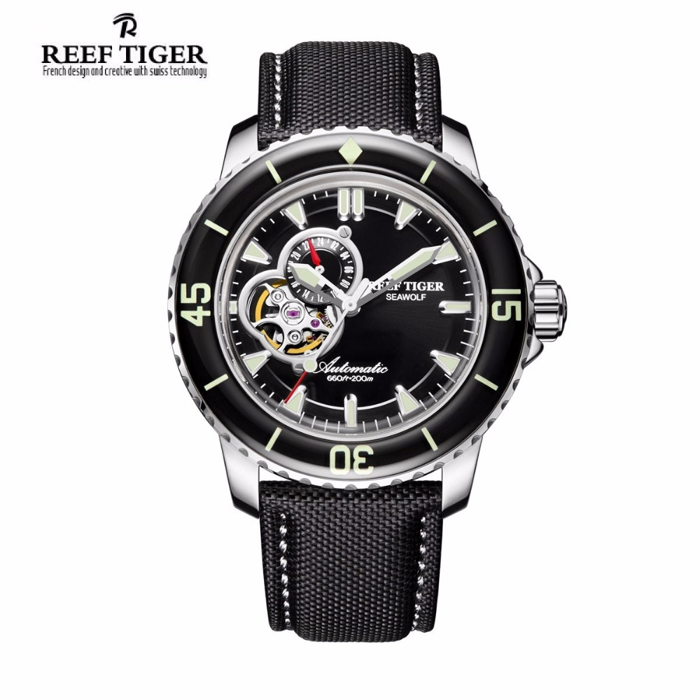Reef Tiger/RT Super Luminous Automatic Sport Watch for Men Stainless Steel Dive Watches with Date RGA3039 yn e3 rt ttl radio trigger speedlite transmitter as st e3 rt for canon 600ex rt new arrival