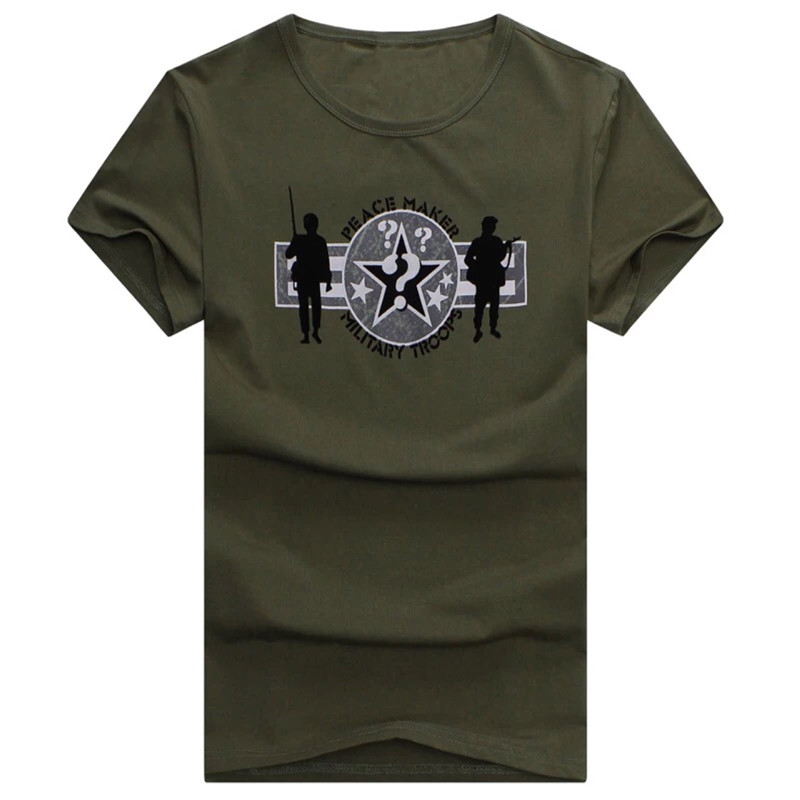 MORUANCLE Mens Military Style Cargo T Shirts Short Sleeve Flight Bomber Tactical Tees T-Shirts Tops Khaki Army Green O Neck