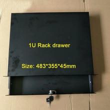 1U standard cabinet drawer 19 Inch Racking Rack Drawers flight case drawer