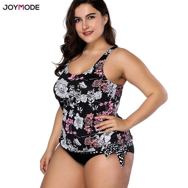 4d8d8c1b074 JOYMODE Two Pieces Bikini Women 2018 New Swimwear Fat Maillot De Bain Femme  Super Plus Size Tankini Swim Suit Bath Biquini Mujer