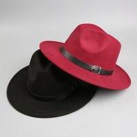 2016 New Fashion Vintage Kids Wide Brim Warm Felt Blend Felt Hat Bowler Trilby Fedora Cap