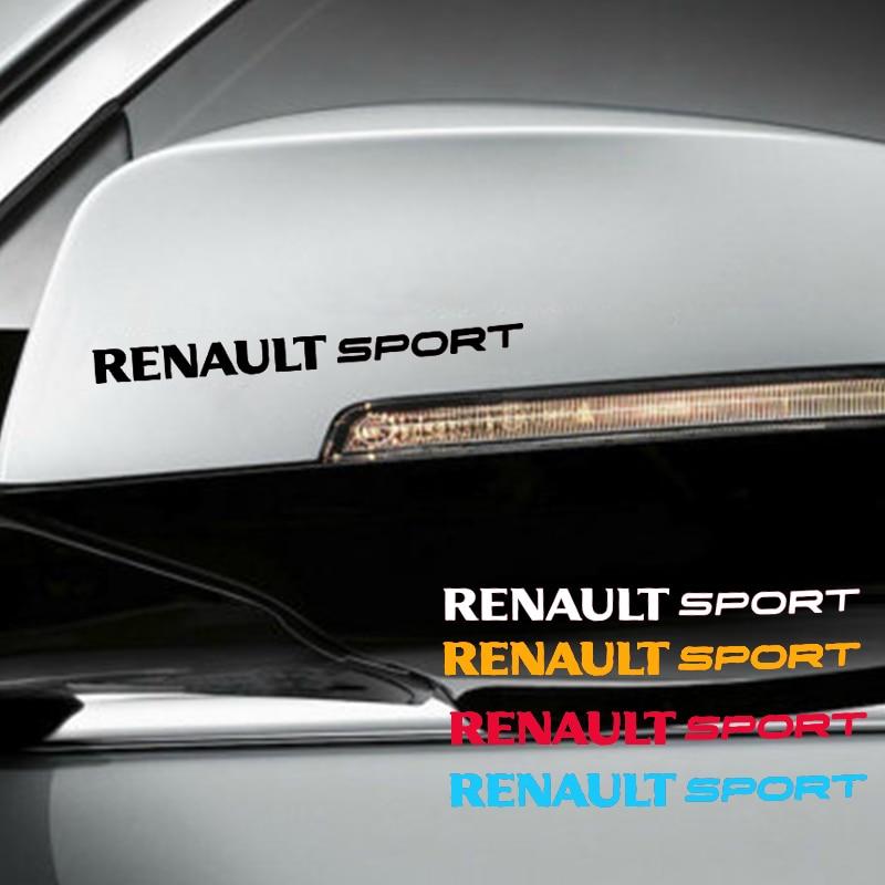 4 шт. перевернутый зеркало ручки к двери автомобиля Стикеры s для renault sport car Стикеры для kia rio honda civic автотентами