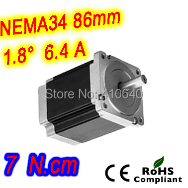 Nema 34 Stepper motor 34HS50-6404S L126 mm with 1.8 deg stepper angle current 6.4 A torque 7 N.cm and 4 wires 5 pieces per lot stepper motor 34hs31 5504s l 80 mm nema 34 with 1 8 deg current 5 5 a torque 4 5 n cm and 4 wires