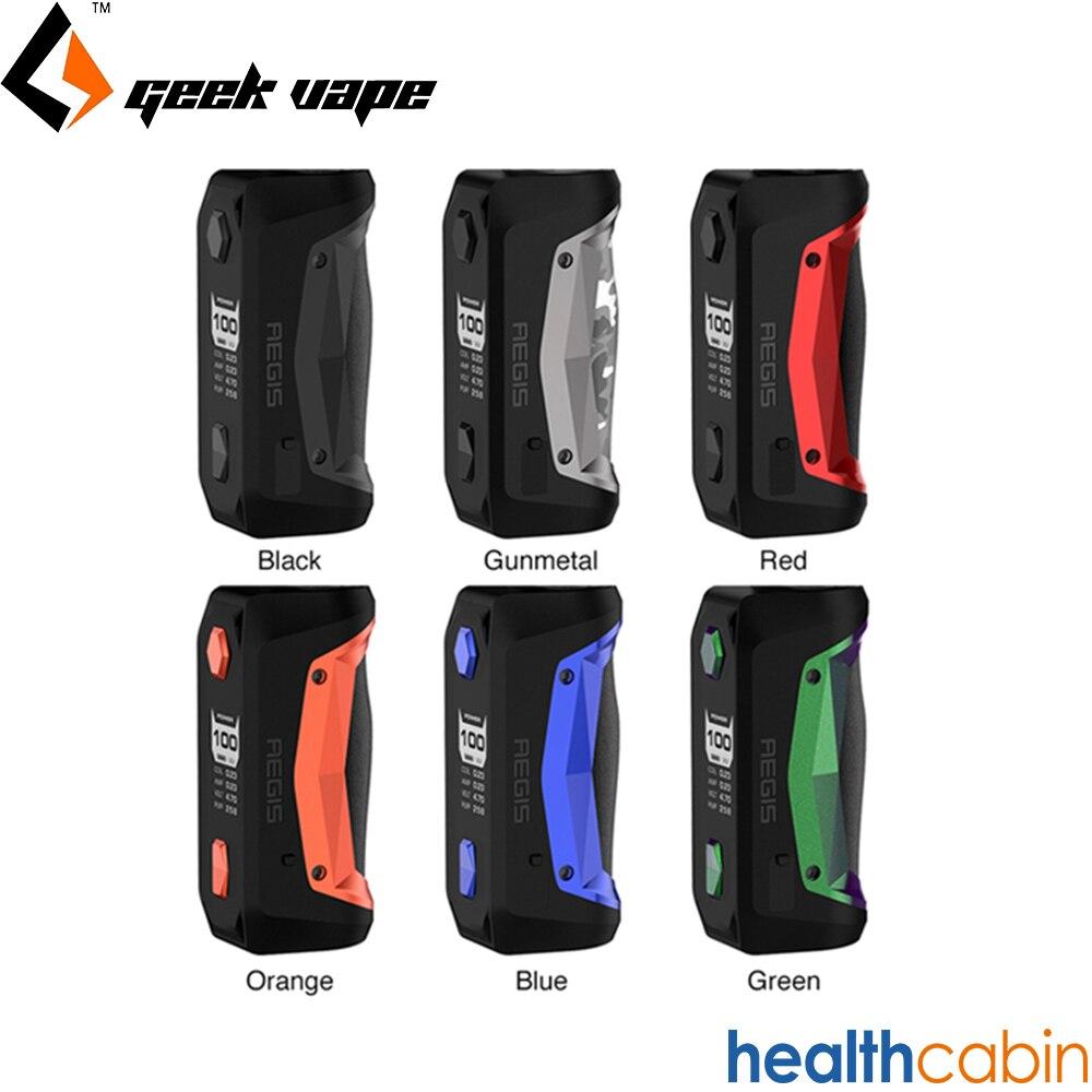 Geekvape Aegis Solo 100 W boîte Mod comme Chipset puissance 18650 batterie Cigarette électronique ajustement Cerberus Tengu RDA réservoir VS glisser 2 mini