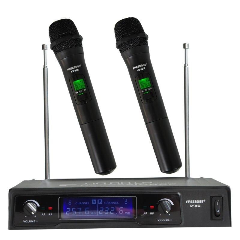 Freeboss KV-8500 VHF 2 ручной беспроводной микрофон динамическая капсула семейный вечерние праздник балансный + несбалансированный выход беспровод...