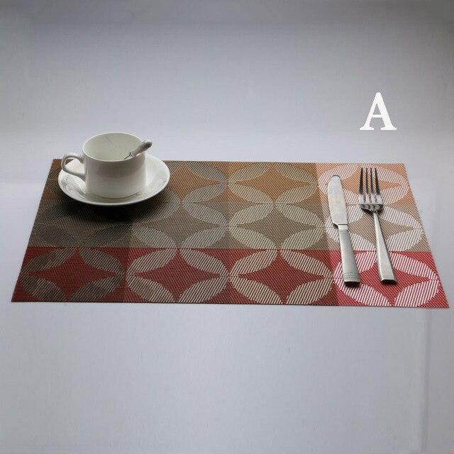 90 Dining Table Centerpiece Mat 4 Pcs Lot PVC Placemat