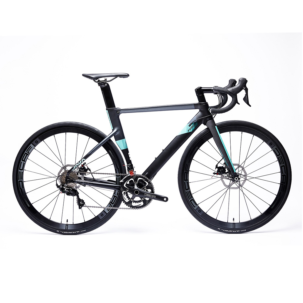 JAVA FUOCO Road Bike 700C Aero 22 Speed With 105 Derailleur Shifter Tek Tro Brake CX Disc Brake Carbon Fork Racing Bicycle