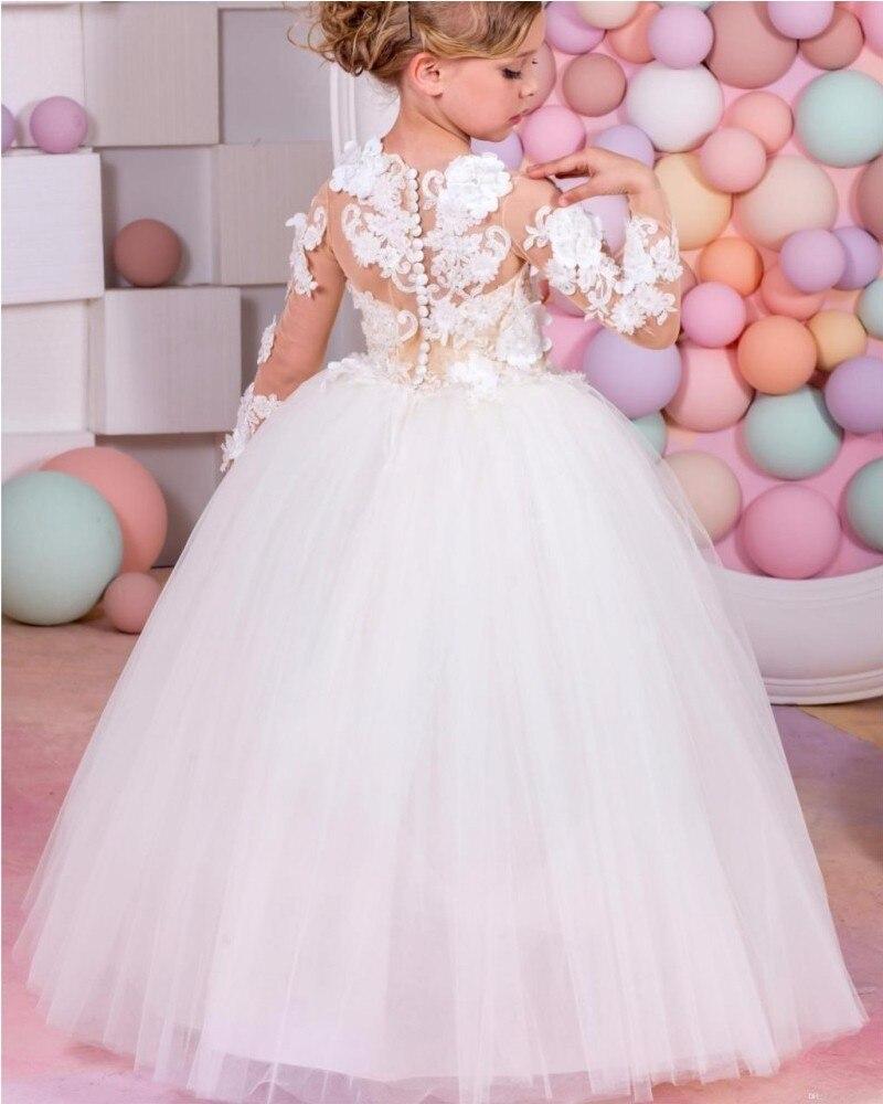 68dbf4a1876d Pageant Dresses For Little Girls Long Sleeve Ball Gown Sexy Children ...