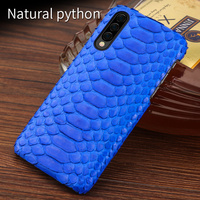 Natural Python leather For samsung a50 case cover Luxury Shockproof back covers For Samsung A30 A50 A70 Genuine leather case