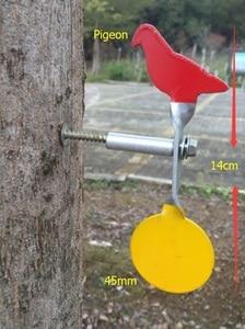 Image 3 - Objetivo de tiro de Paloma, acero inoxidable, diámetro de 45mm, objetivo de acero para tiro con pistola de aire de Paintball, 1 ud.