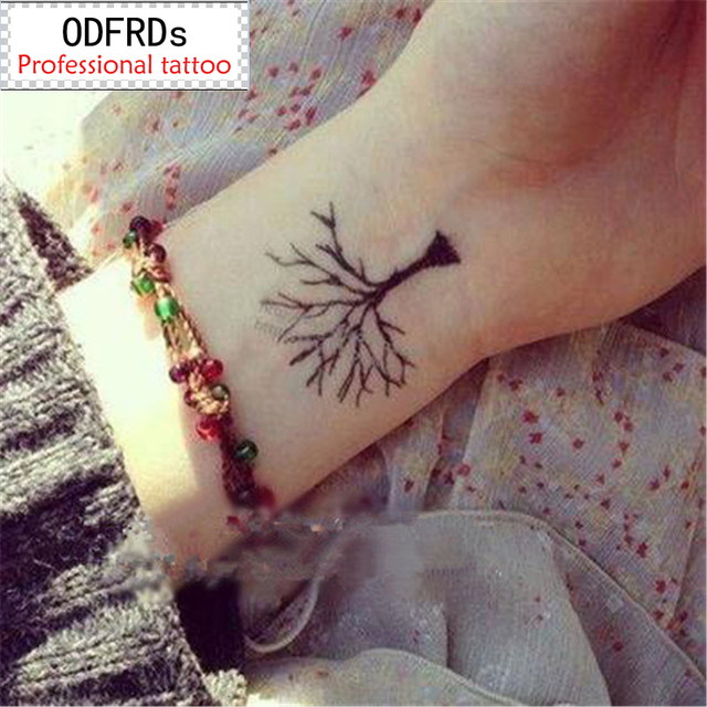waterproof temporary tattoo tatoo henna fake flash tattoo stickers ...