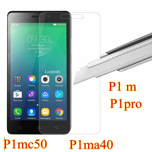 Tempered glass FOR Lenovo vibe p1m p1 m p1 m  P1mc50 P1ma40 c50 a40 screen protector SKLO GLAS film for Lenovo mobile phone