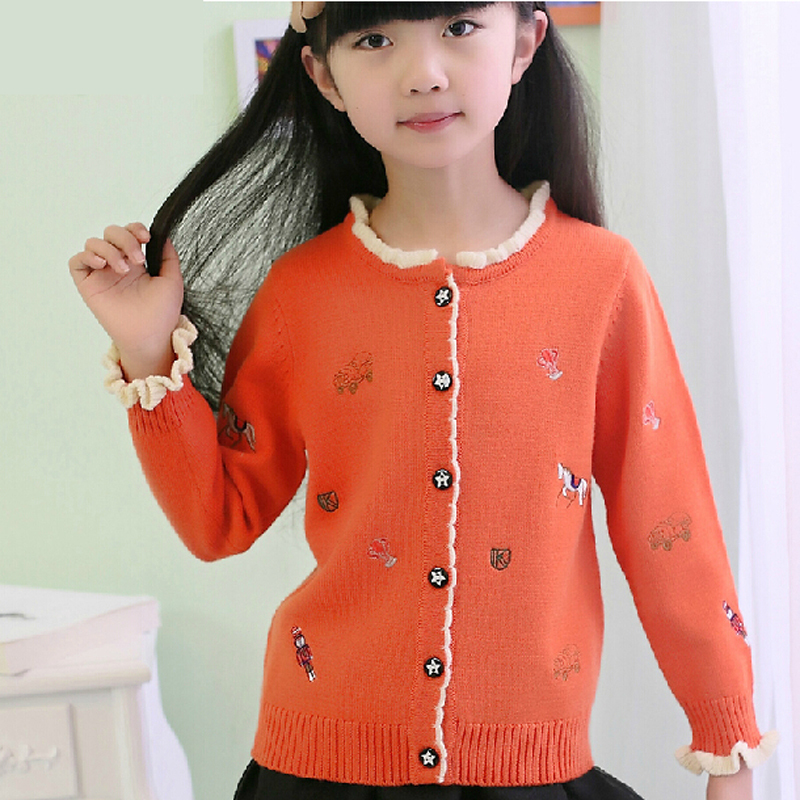 Children Sweater Girls Woolen Sweater Kids Girls Autumn Clothes Girl  Cardigans Sweater Kids Jackets Girls Thin Sweaters Cardigan