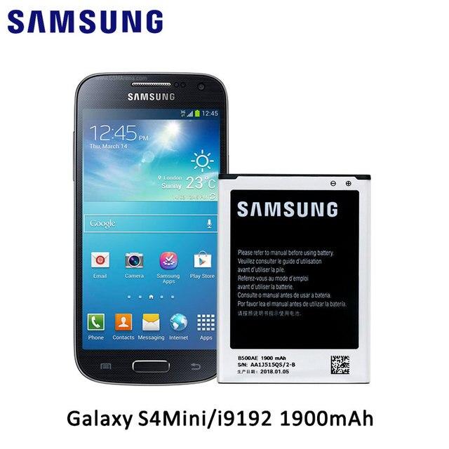 7485bea6ceb 100% Original Samsung Battery for Samsung Galaxy S4 Mini i9192 i9190 i9195  i9197 i9198 J110 B500AE 1900mAh 3 Pins Without NFC